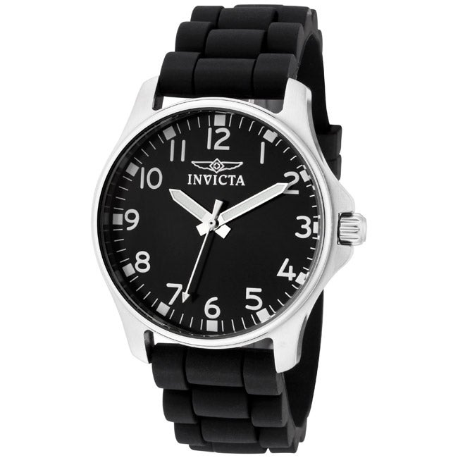 Invicta Women's 'Wildflower' Black Silicone Watch