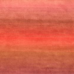 Indo Hand-knotted Tibetan Purple/ Pink Wool Rug (3'7 x 5'6)