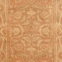 Indo Hand-knotted Tibetan Beige/ Rust Wool Rug (4' x 6') - Thumbnail 1