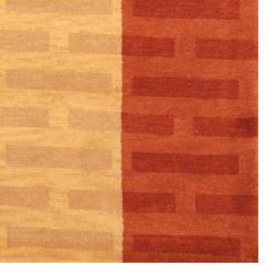 Indo Hand-knotted Tibetan Beige/ Rust Wool Rug (3'7 x 5'6) - Thumbnail 2