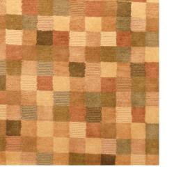 Indo Hand-knotted Tibetan Beige/ Brown Wool Rug (3'7 x 5'6) - Thumbnail 2