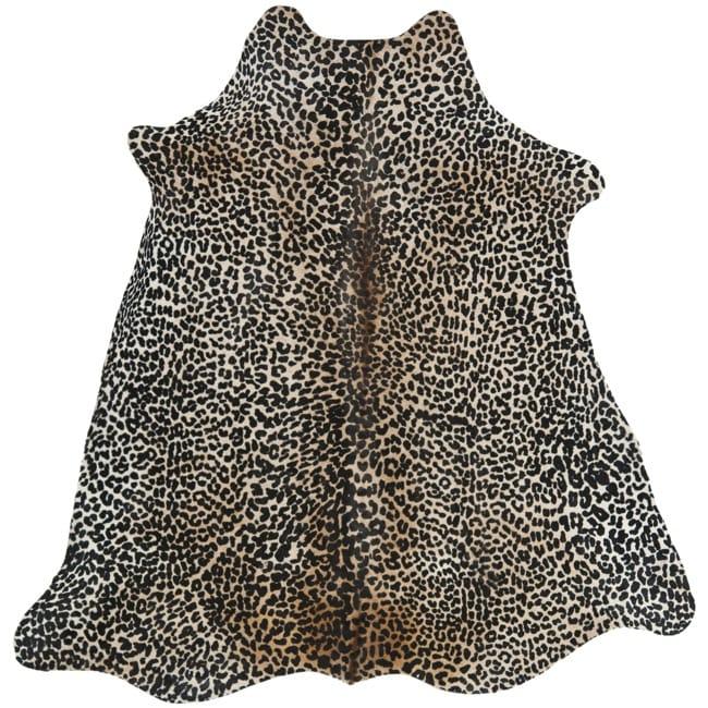 Safavieh Handpicked Hacienda Argentinian Leopard Print Cowhide Leather Rug (5' x 7')