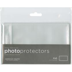 "American Crafts Page Protectors Side-Loading 6/""x12/"" for 4x6 Photos 20//pkg 2-Pack"
