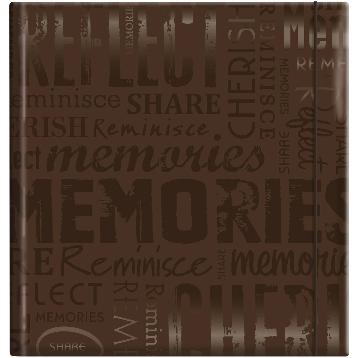 Embossed Gloss Expressions 'Memories' Brown Photo Album (Holds 200 photos)