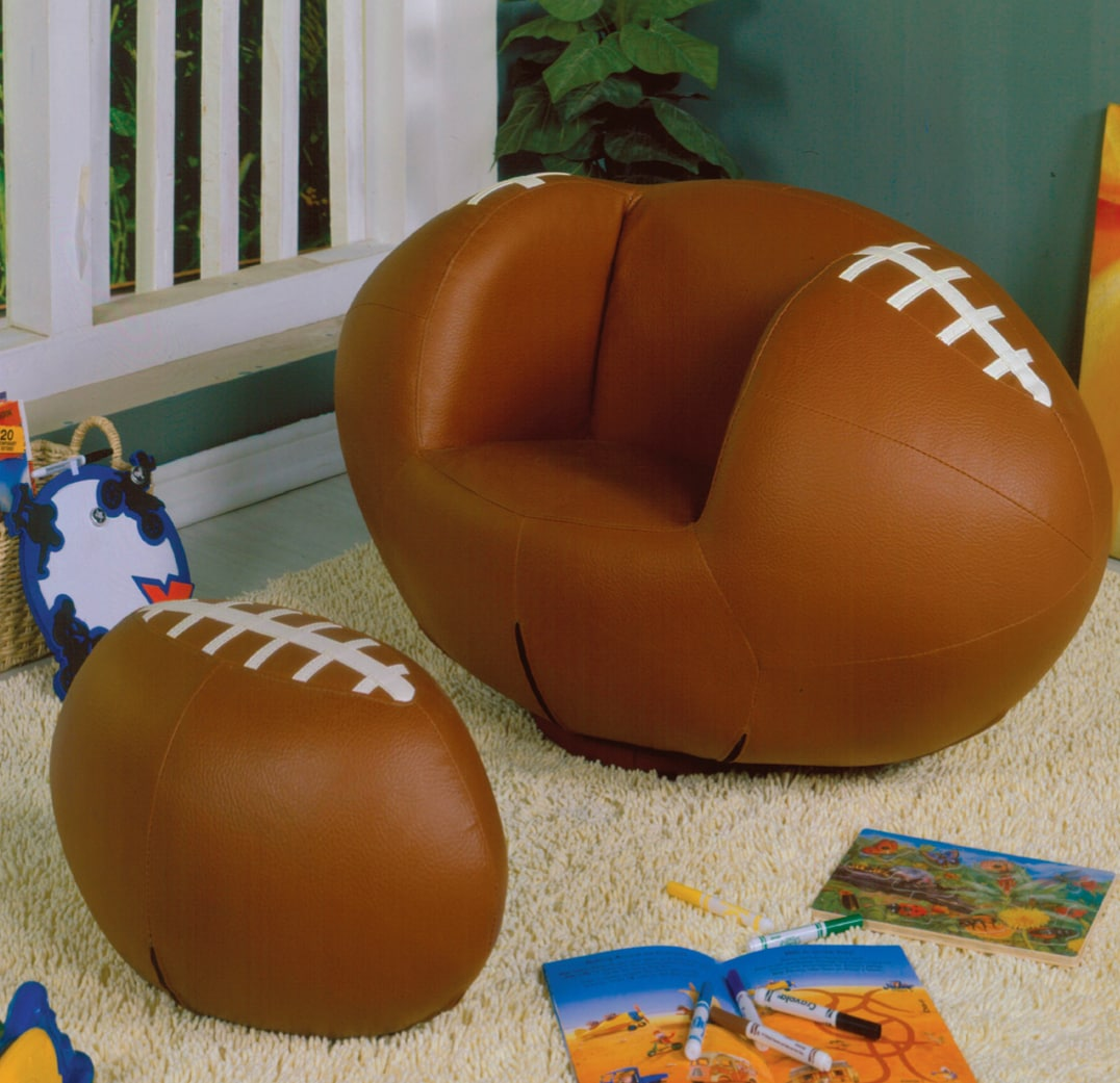 Youth Football Chair and Ottoman