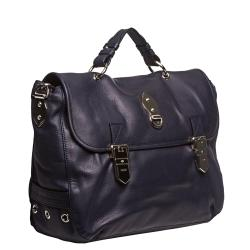Mulberry Oversized Navy Leather Satchel Handbag - Thumbnail 1