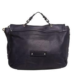 Mulberry Oversized Navy Leather Satchel Handbag - Thumbnail 2