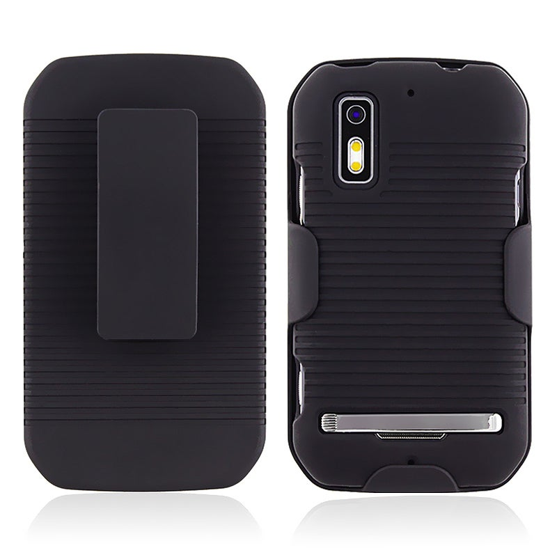 Black Holster with Stand for Motorola Photon MB855