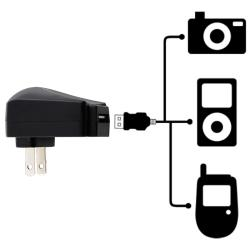 Black Universal USB Travel Charger