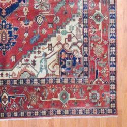 Indo Hand-knotted Serapi Rust Wool Rug (9'10 x 14'6)