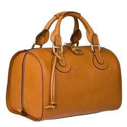 Chloe Tan Leather Satchel - Thumbnail 1