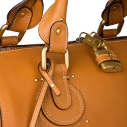 Chloe Tan Leather Satchel - Thumbnail 2