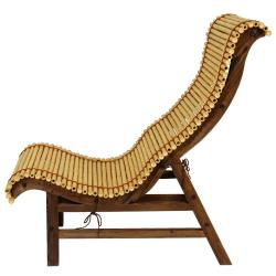 Curved Japanese Bamboo Lounge Chair (China) - Thumbnail 2
