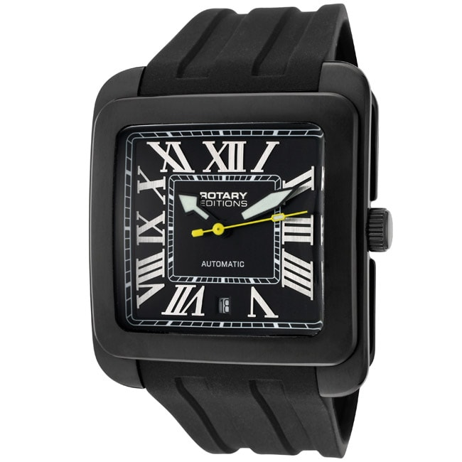 Rotary Men's 'Editions/700 Series' Black Rubber Watch