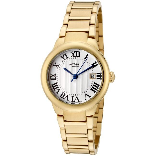 Rotary Women's 'Savannah' Goldtone Stainless Steel Watch