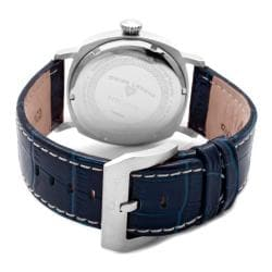 Swiss Legend Men's 'Executive' Dark Blue Leather Watch - Thumbnail 1