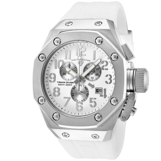 Swiss Legend Men's 'Trimix Diver' White Silicone Watch