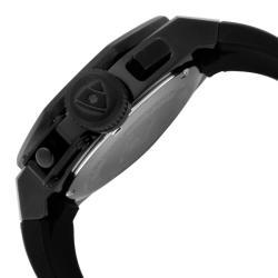 Swiss Legend Men's 'Trimix Diver' Black Silicone Watch