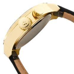 Swiss Legend Men's 'SL Pilot' Black Leather Watch