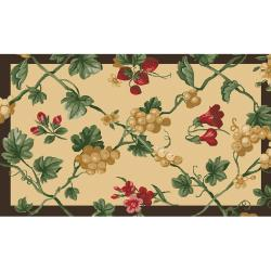 Fruit Patch Cherry Three Piece Kitchen Rug Set Free