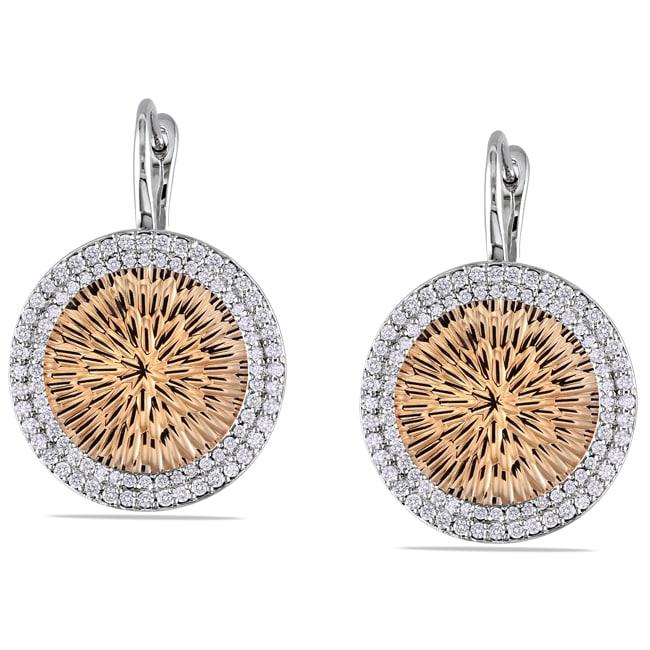 Miadora 14k Two-tone Gold 1ct TDW Diamond Dangle Earrings