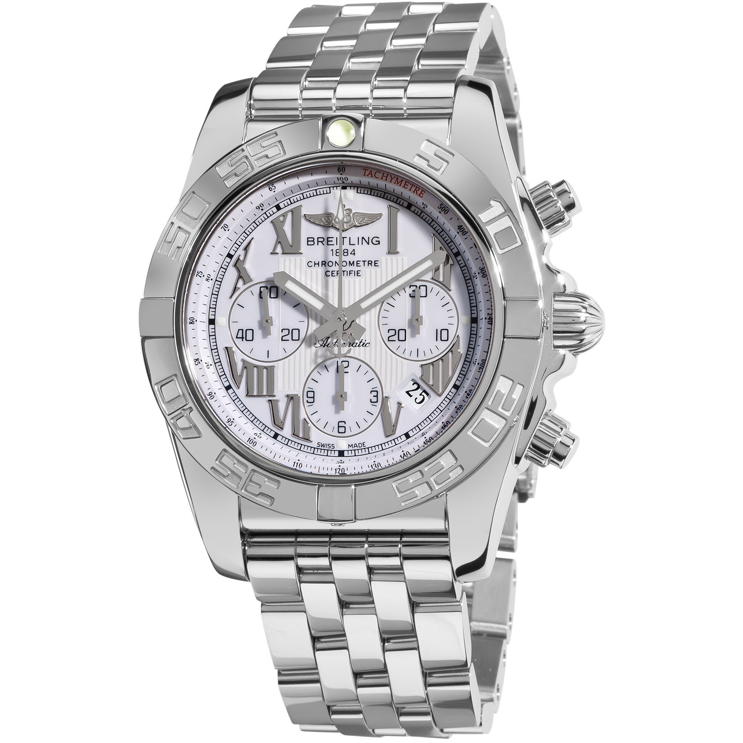 Breitling Men's 'Chronomat B01' White Dial Chronograph Watch