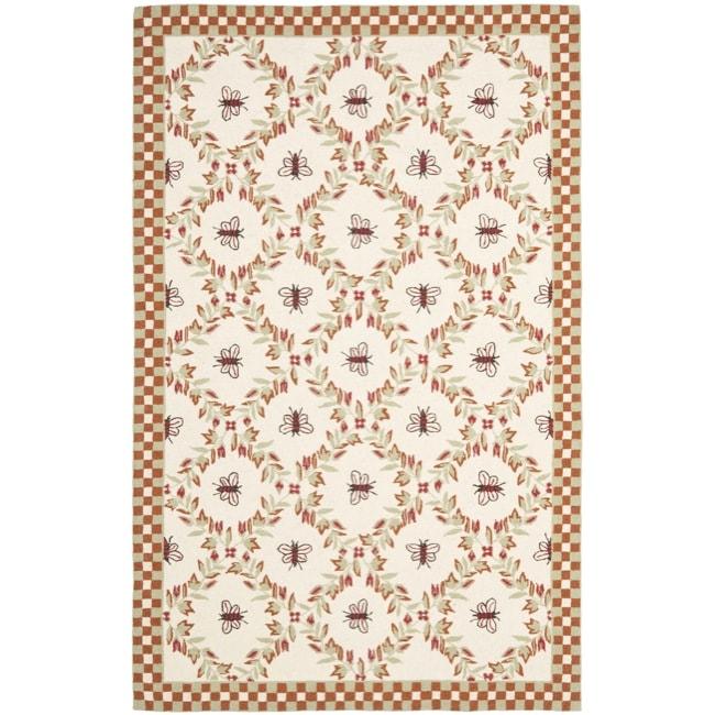 Safavieh Hand-hooked Bees Ivory/ Rust Wool Rug (8'9 x 11'9) - 8'9 X 11'9