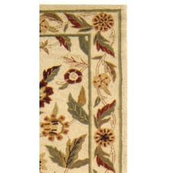 Safavieh Hand-hooked Ferns Ivory Wool Rug (2'6 x 8') - Thumbnail 1