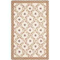 Safavieh Hand-hooked Bees Ivory/ Rust Wool Rug (8'9 x 11'9) - 8'9 X 11'9 - Thumbnail 0