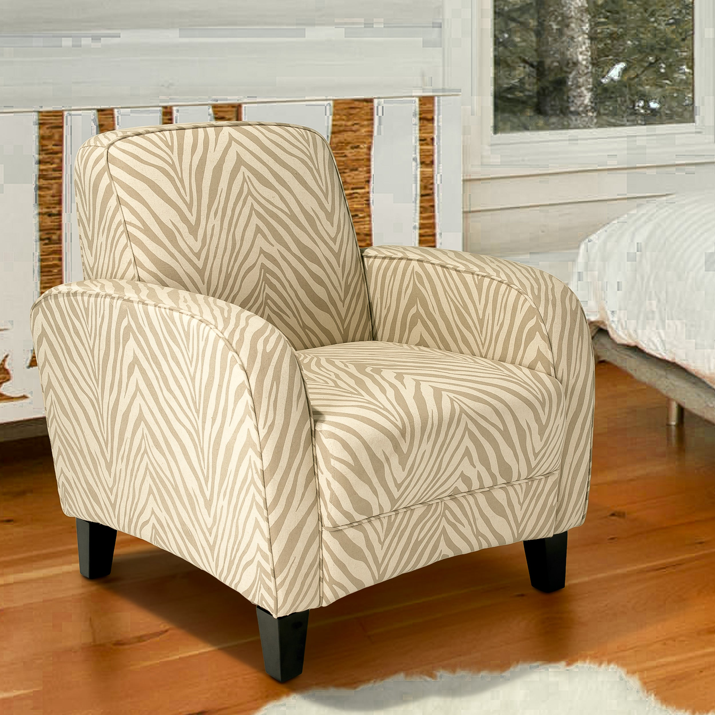 Christopher Knight Home Maurice Zebra Grey Fabric Club Chair