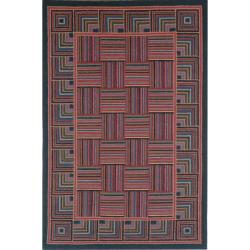 Safavieh Hand-hooked Squares Wool Rug (7'6 x 9'9) - Thumbnail 0