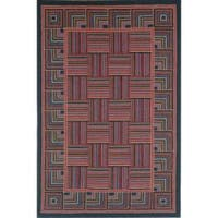 Safavieh Hand-hooked Squares Wool Rug (7'6 x 9'9) - 7'9 x 9'9