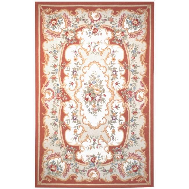 Safavieh Hand-hooked Aubusson Ivory Wool Rug (7'6 x 9'9)