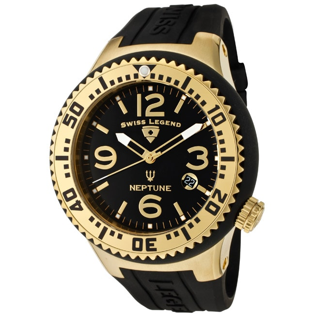 Swiss Legend Men's 'Neptune' Silicone Watch - Thumbnail 0