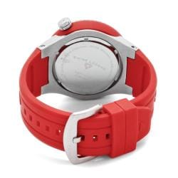 Swiss Legend Men's 'Neptune' Red Silicone Watch - Thumbnail 1