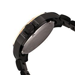 Swiss Legend Men's 'World Timer' Black Ion-Plated SS Watch