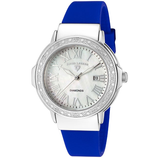 Swiss Legend Women's 'South Beach' Blue Silicone Watch