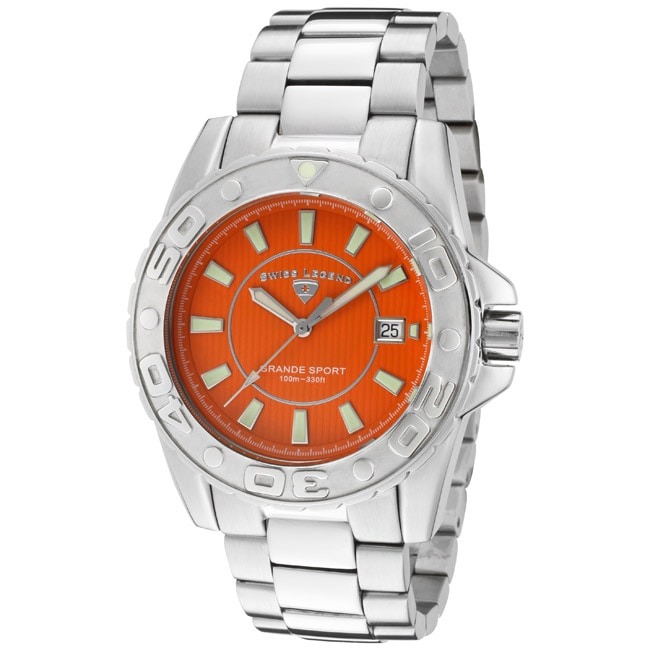Swiss Legend Men's 'Grande Sport' Stainless Steel Watch