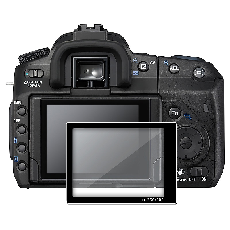 BasAcc LCD Screen Protector Glass for Sony Alpha DSLR A350