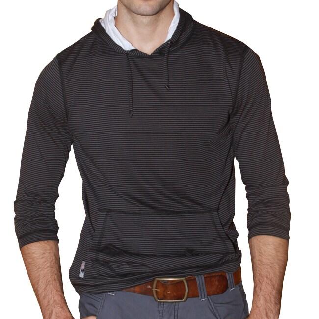 191 Unlimited Men's Brown Stripe Pullover Hoodie