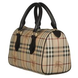 Burberry 3460094 Medium Haymarket Check Bowler Bag - Thumbnail 1