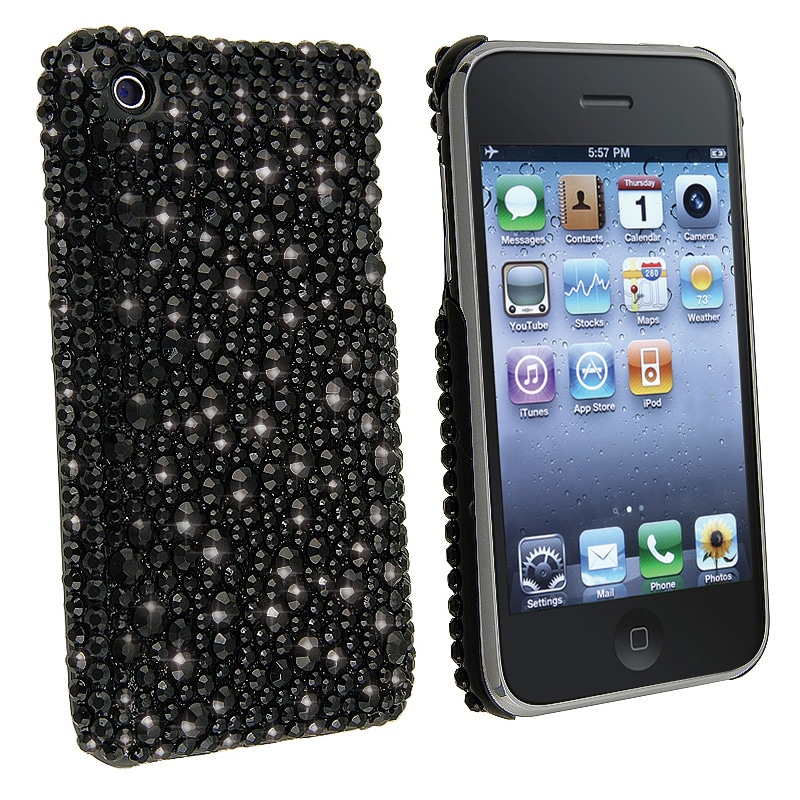 INSTEN Black Diamond Snap-on Phone Case Cover for Apple iPhone 3G/ 3GS