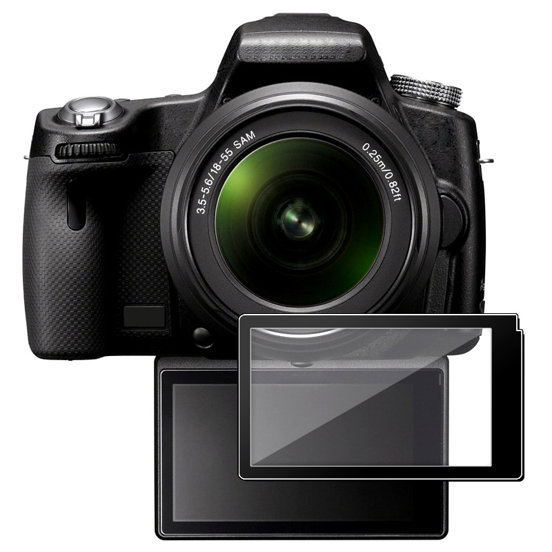 BasAcc LCD Screen Protector Glass for Sony A55/ A33