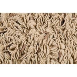 Hand-woven Ivory Blessing Plush Shag New Zealand Felted Wool Rug (5' x 8') - Thumbnail 2