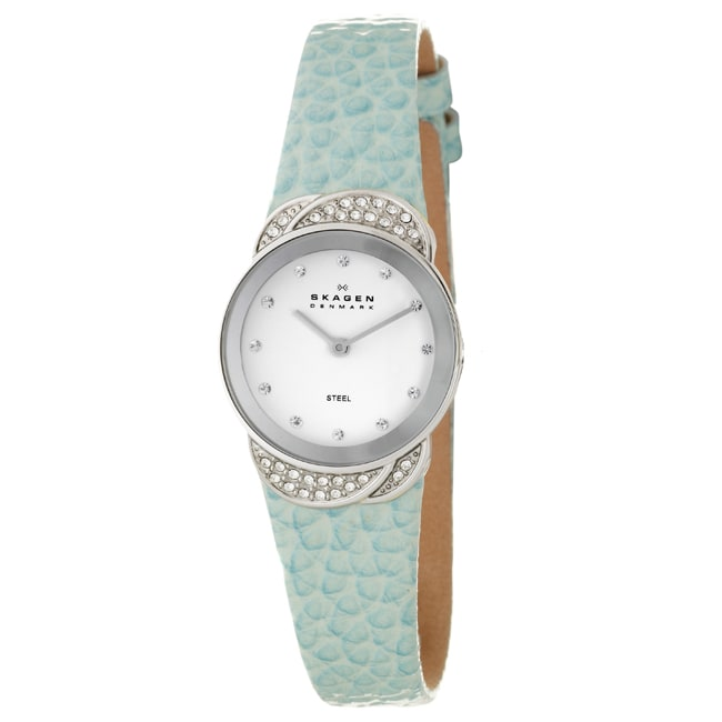 Skagen Women's 'Studio' Stainless Steel and  Crystals Watch - Thumbnail 0