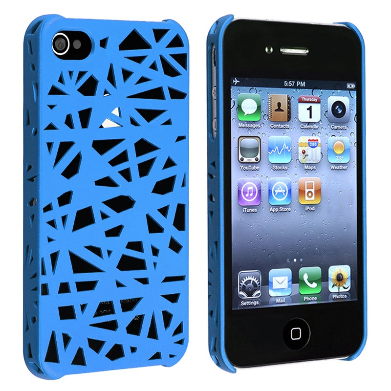 BasAcc Blue Bird Nest Rubber Coated Case for Apple iPhone 4/ 4S - Thumbnail 0