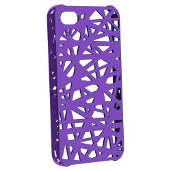 BasAcc Purple Bird Nest Rubber Coated Case for Apple iPhone 4/ 4S