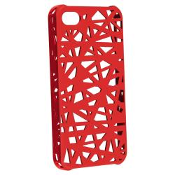 BasAcc Red Bird Nest Rubber Coated Case for Apple iPhone 4/ 4S