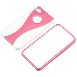 BasAcc Pink/ White Cup Shape Snap-on Case for Apple iPhone 4/ 4S