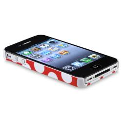 BasAcc Red with White Dot Snap-on Case for Apple iPhone 4/ 4S - Thumbnail 2